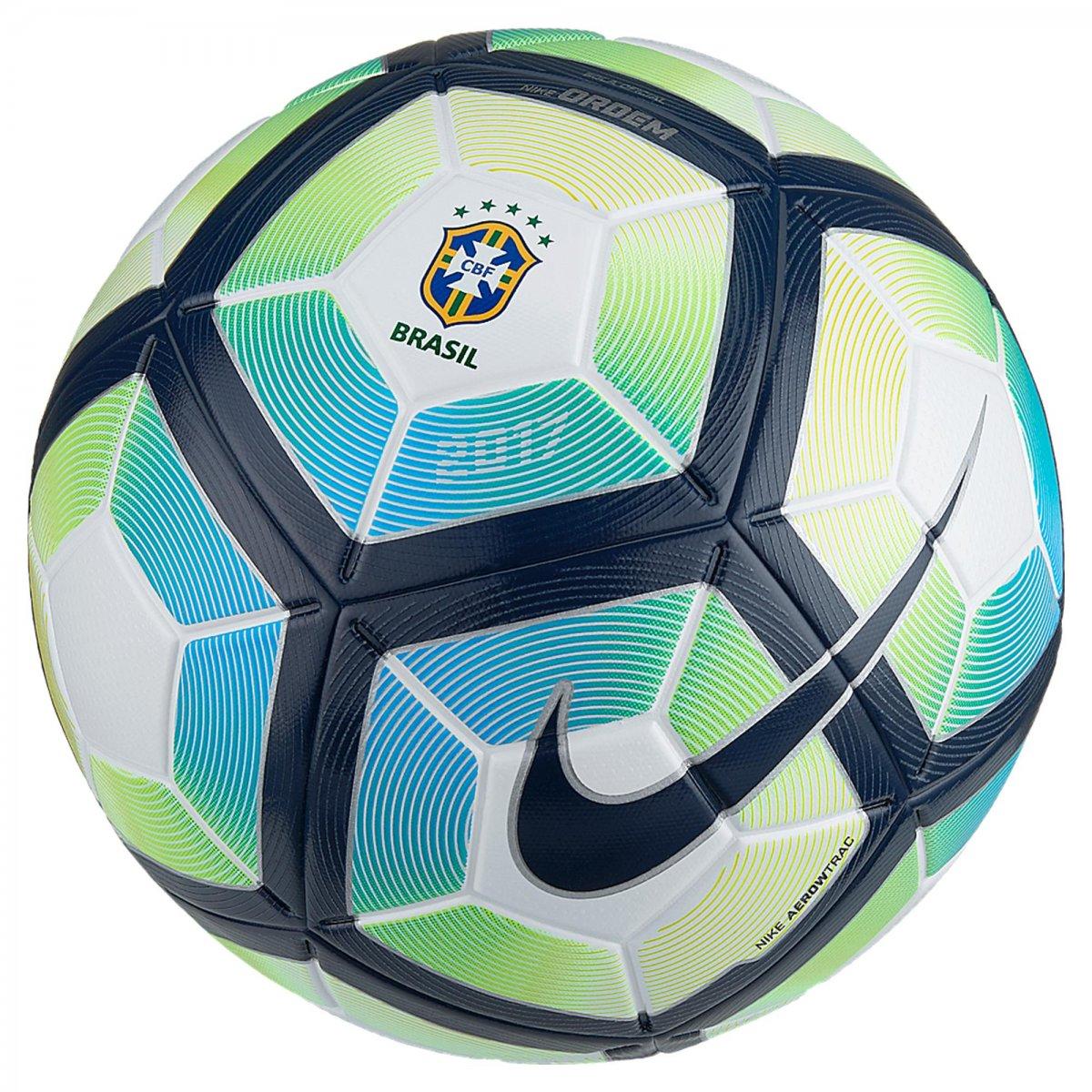 aa02158877 Bola Campo Nike CBF Ordem 4 SC3072-100 Branco Azul Verde