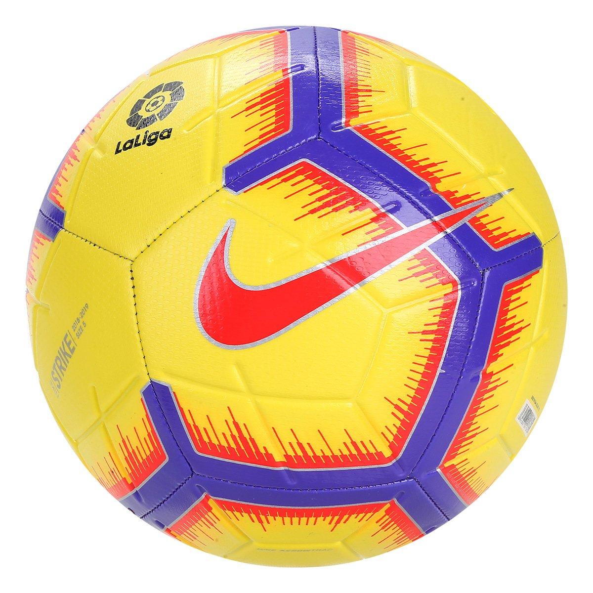 Bola Campo Nike La Liga Strike SC3313-710 - Amarelo Roxo - Calçados ... f5b9d5ea994bb
