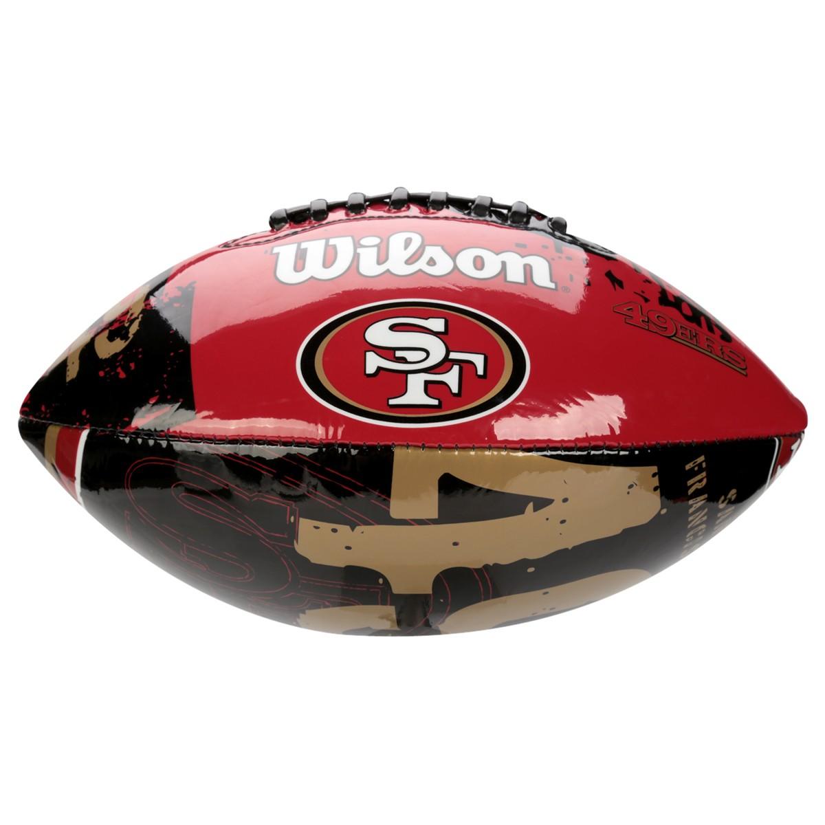 6249873a3e Bola Futebol Americano Wilson WTF1534 Vermelho Preto