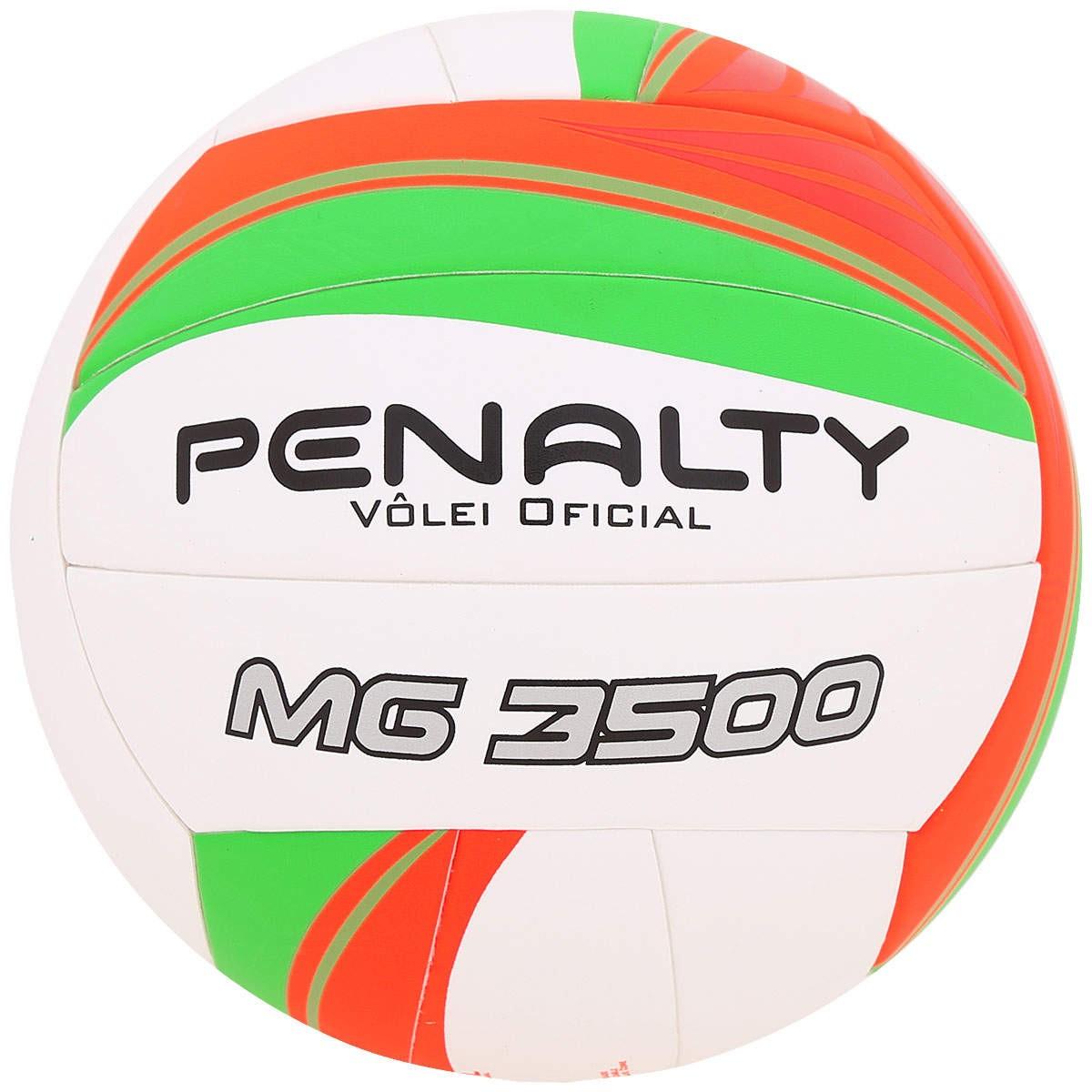 63974935163d2 Bola Vôlei Penalty MG 3500 V 520186 1790 Branco Laranja Verde
