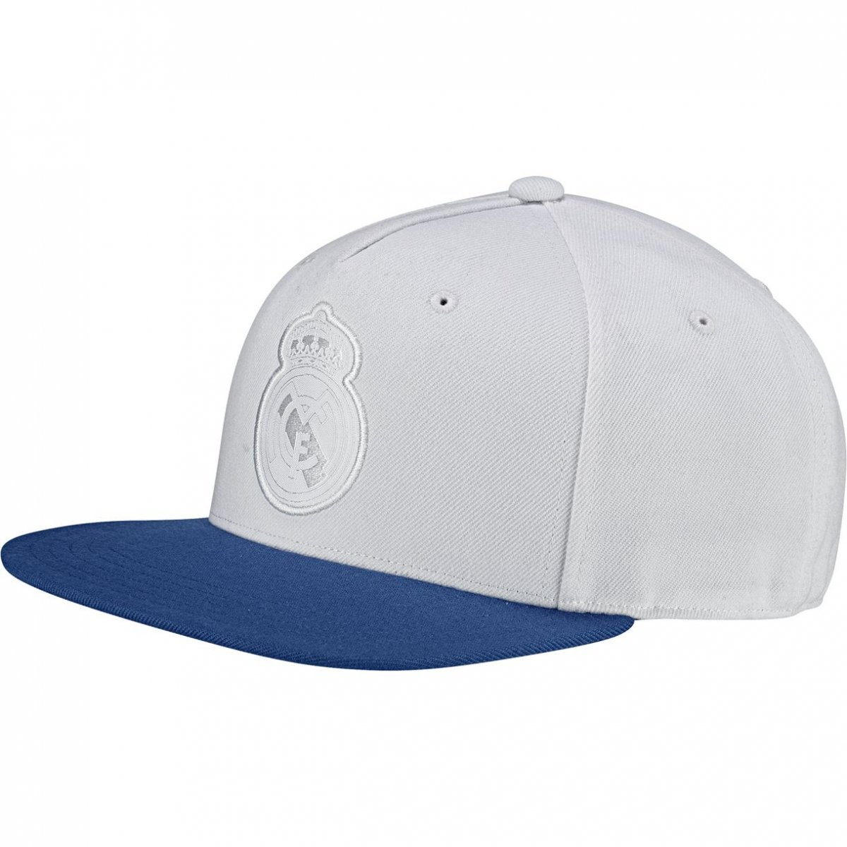 b56c05123e001 Boné Adidas Real Madrid Aba Reta BR7159 - Branco Azul - Calçados ...