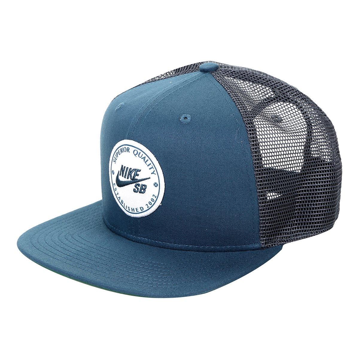 Boné Nike SB Patch Trucker 925293-474 - Azul - Calçados Online ... fa15dfe653d