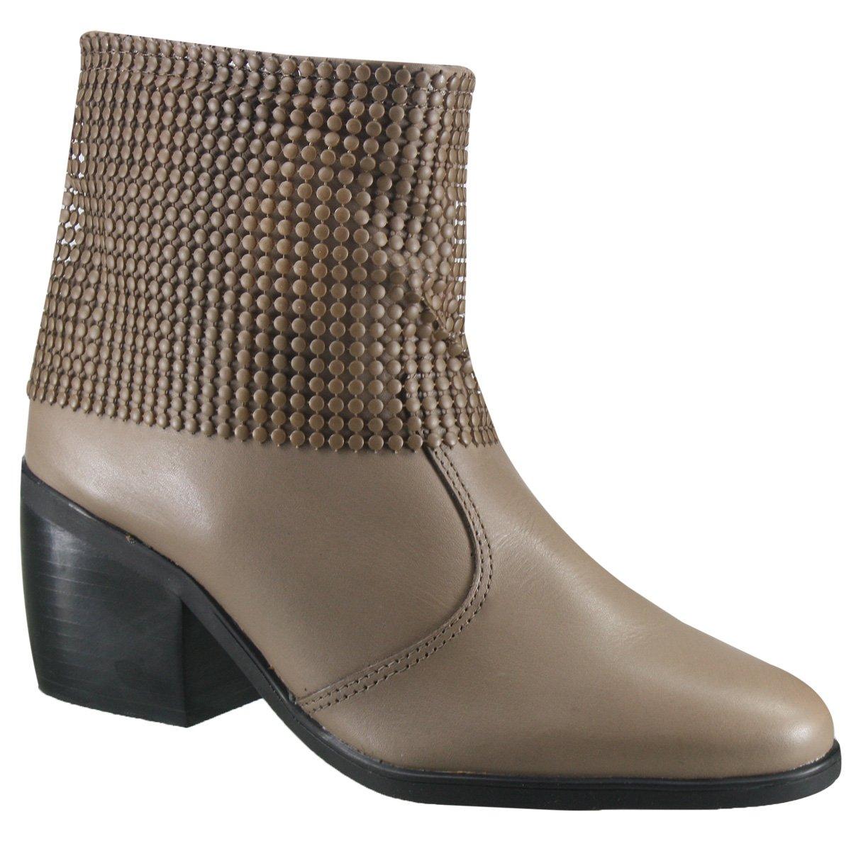 32d964f13 Bota Ankle Boot Cravo e Canela 144211-3 - Fendi (Vegetal) - Calçados ...