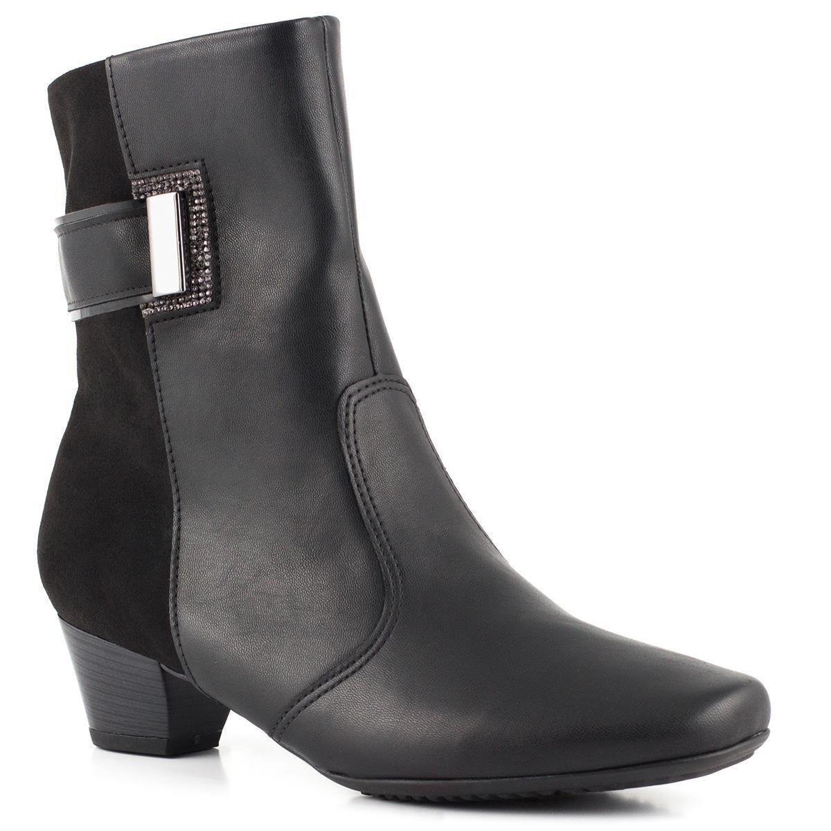 00c2c5dc2d3f Bota Ankle Boot Piccadilly MaxiTherapy 320249 - Preto (Microfibra ...