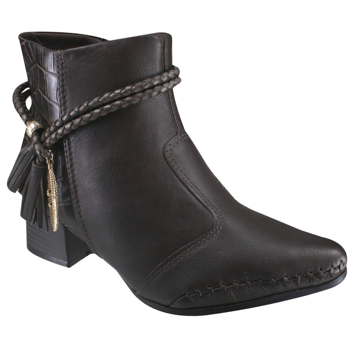 728553d048aa Bota Ankle Boot Ramarim Total Comfort 17-57102 0001 Cacau (Naturale  Soft Plus