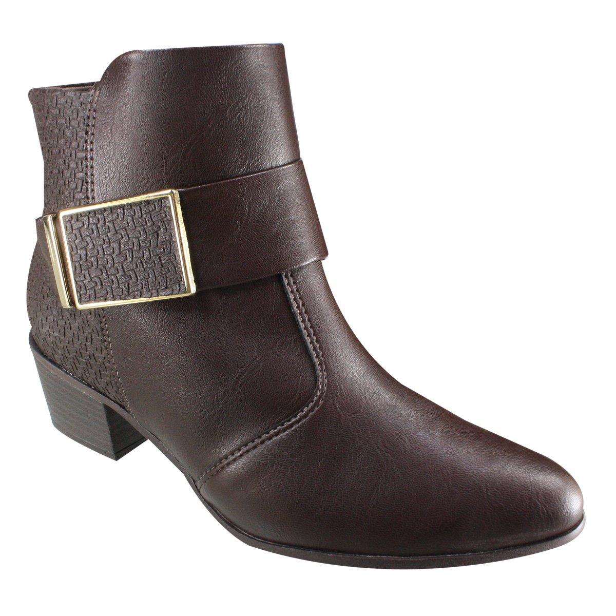 e9998c13e2 Bota Ankle Boot Ramarim Total Comfort 18-58101 000010 Brown (Naturale  Plus Trama