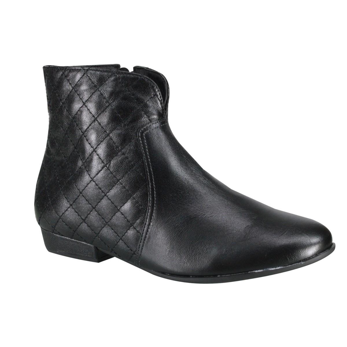 83f063545c5 Bota Ankle Boot Usaflex S5908 02 Preto (Mestiço)