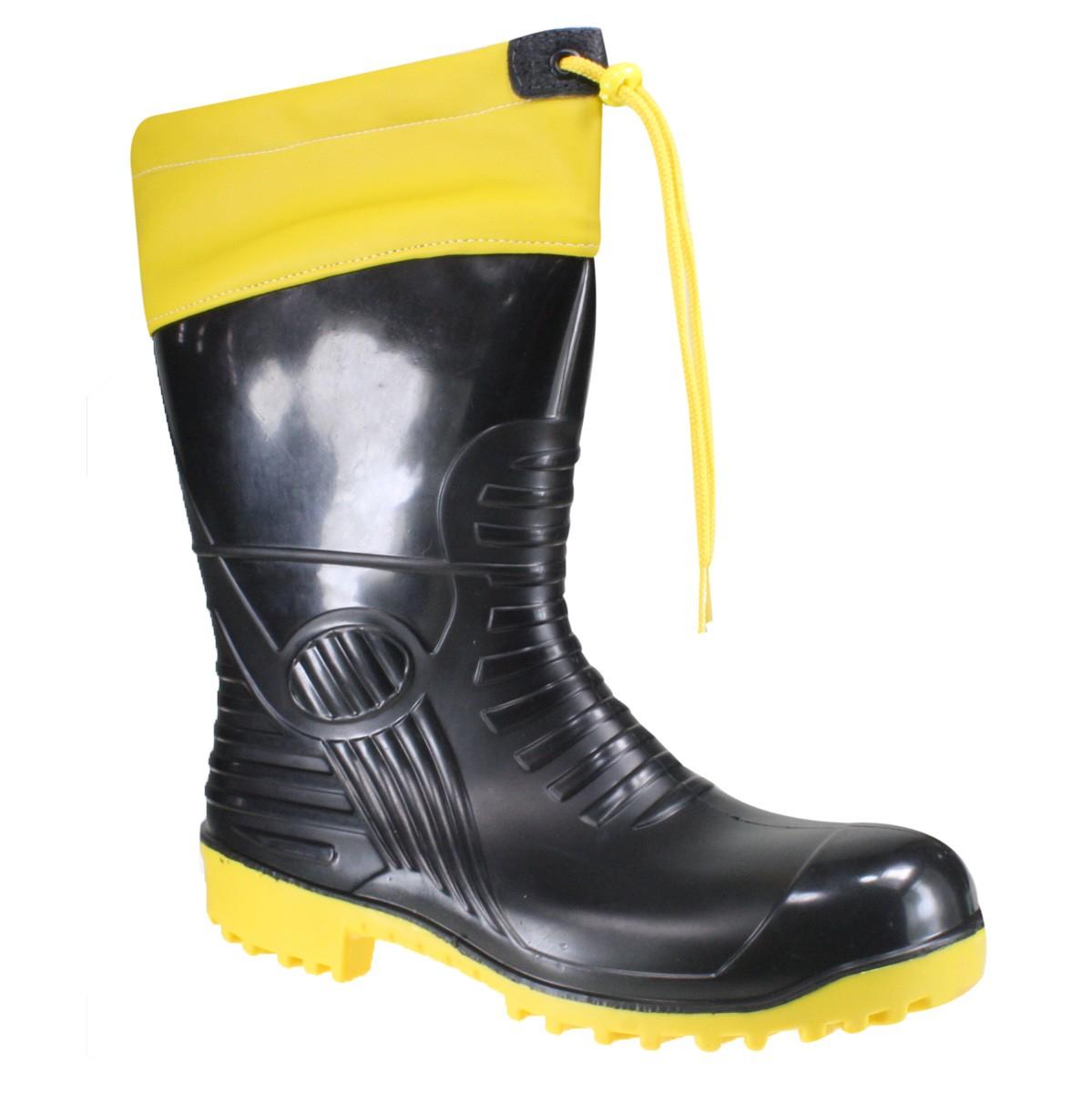 31c67f62cc5 Bota Borracha Patrol 61128 Preto Amarelo