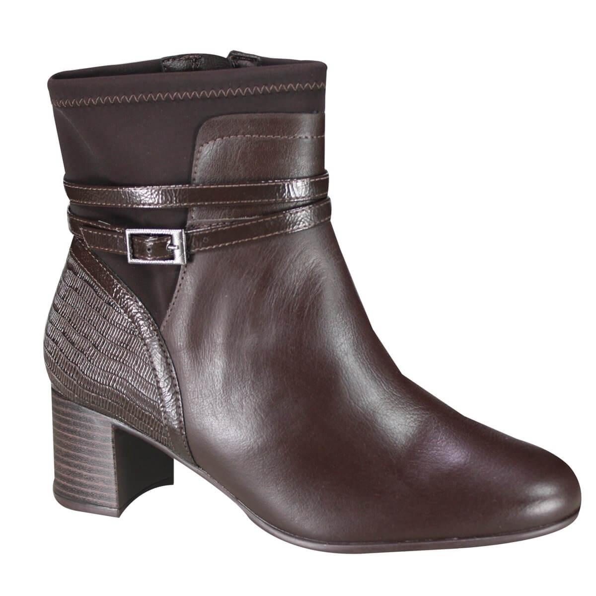 3a29ce658 Bota Comfortflex Feminina Ankle Boot 19-99303 000001 - Cafe ...