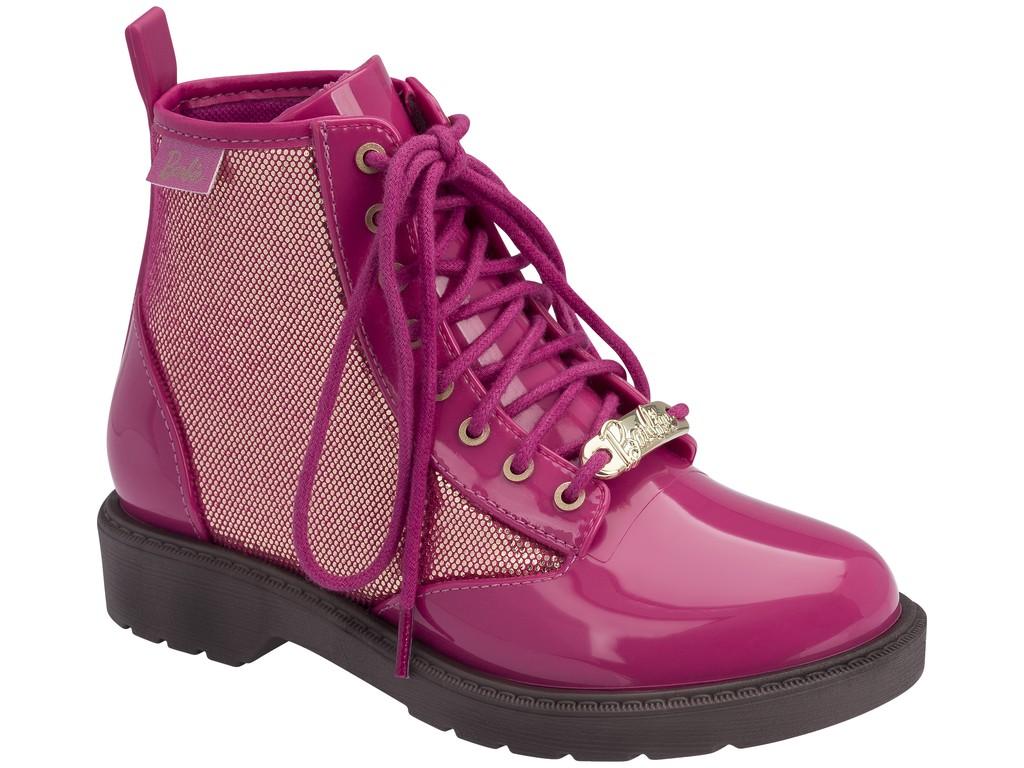 f2214a90bd5 Bota Coturno Infantil Grendene Barbie Fashion 21571-21312 Marrom Rosa