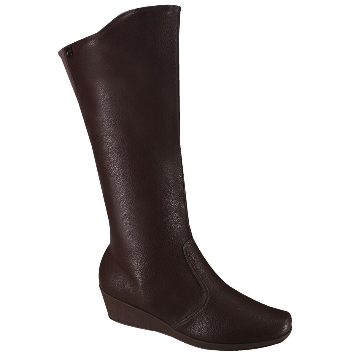 24055f5777 Bota Feminina Anabela Piccadilly Fashion Comfort 143142 Madeira