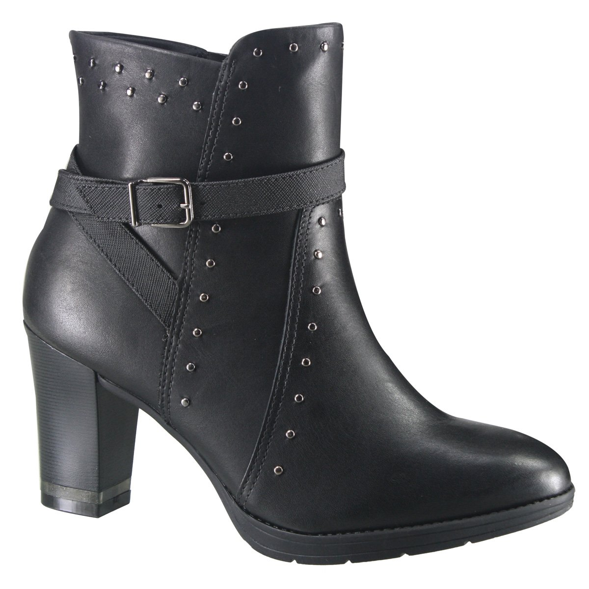 46a63cc60b73 Bota Feminina Ankle Boot Comfortflex 18-78303 000002 Preto (Bio Napa  Soft Bio