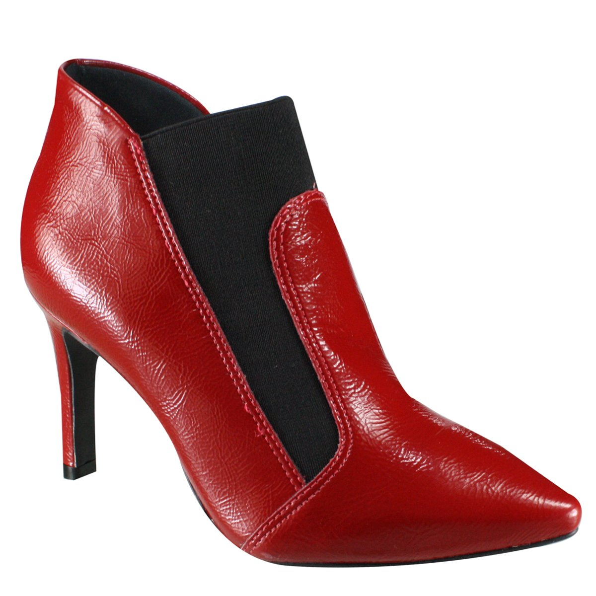 01cf469f38 Bota Feminina Ankle Boot Sandra 59-2803 - Vermelho (Verniz Show ...