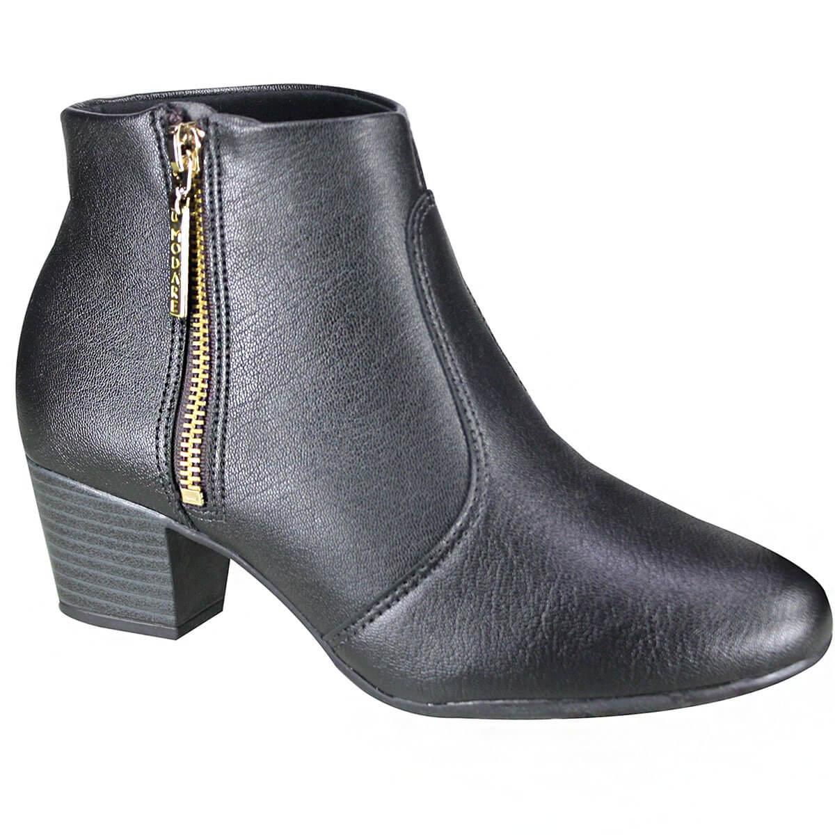 3ddaf24b0b Bota Feminina Modare Ultraconforto Ankle Boot 7046.115 15423 15745 ...
