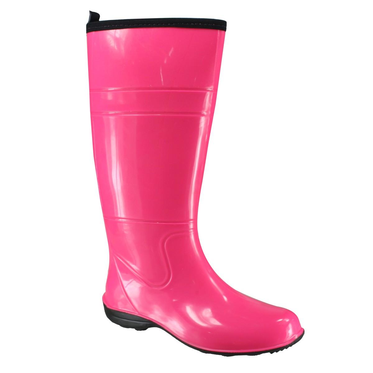 55d4220830c Bota Feminina Pat Sem Elástico Cano Alto 10077 - Pink - Calçados ...
