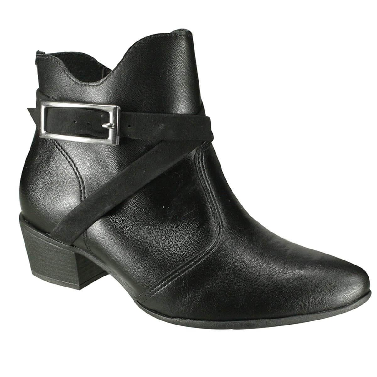 fb5e307a8 Bota Feminina Ramarim Ankle Boot 19-62103 000004 - Preto (Vest ...