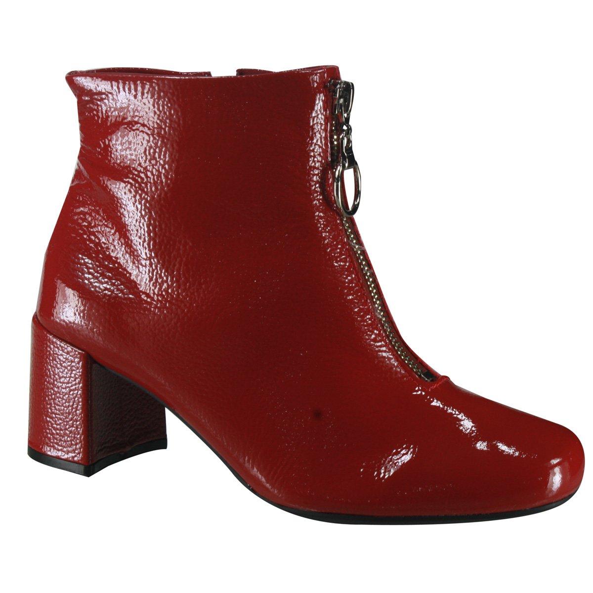 58a127186 Bota Feminina Usaflex Ankle Boot Z4207 3 - Rebu (Verniz Show ...