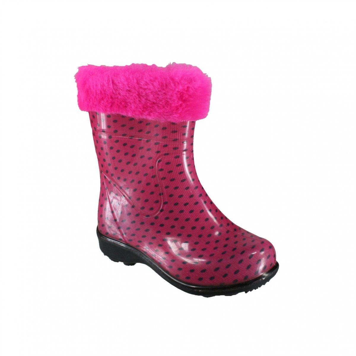 Bota Infantil Pat Cano Curto 23247 - Poa Rosa - Calçados Online ... 616bc028e9f
