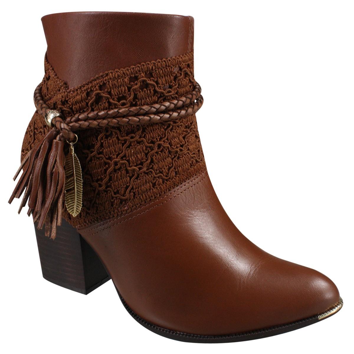 caf4ed5e9 Bota Ramarim Ankle Boot 17-16102 000003 - Pinhão (Naturale Soft ...