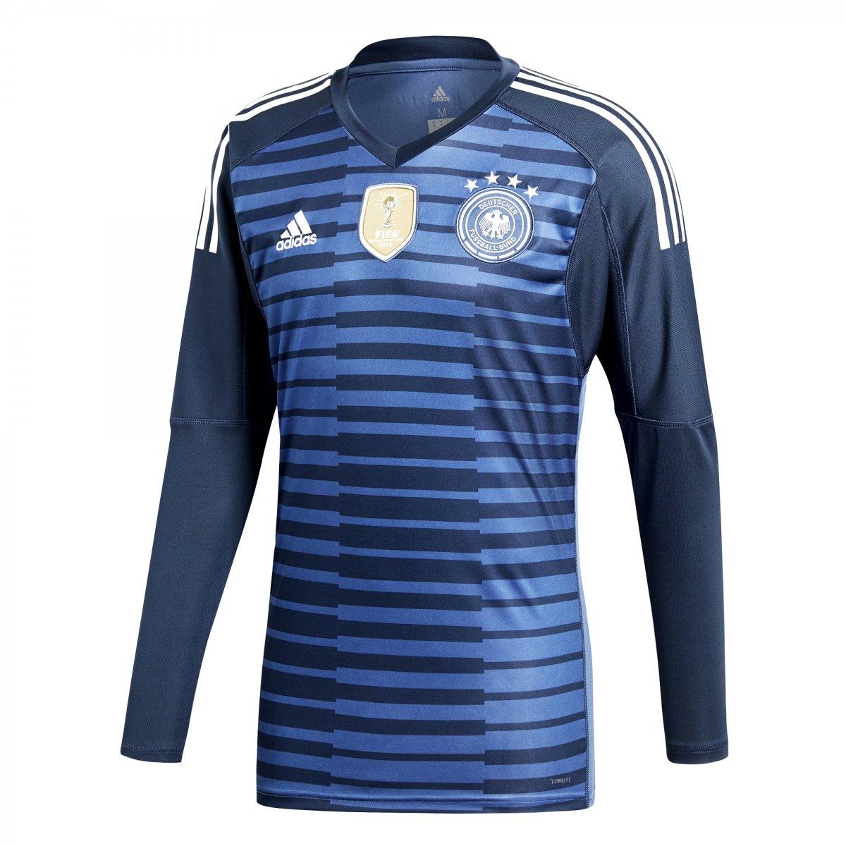 e5b45a5147 Camisa de Goleiro Adidas Alemanha 2018 BR7831 - Azul - Calçados ...