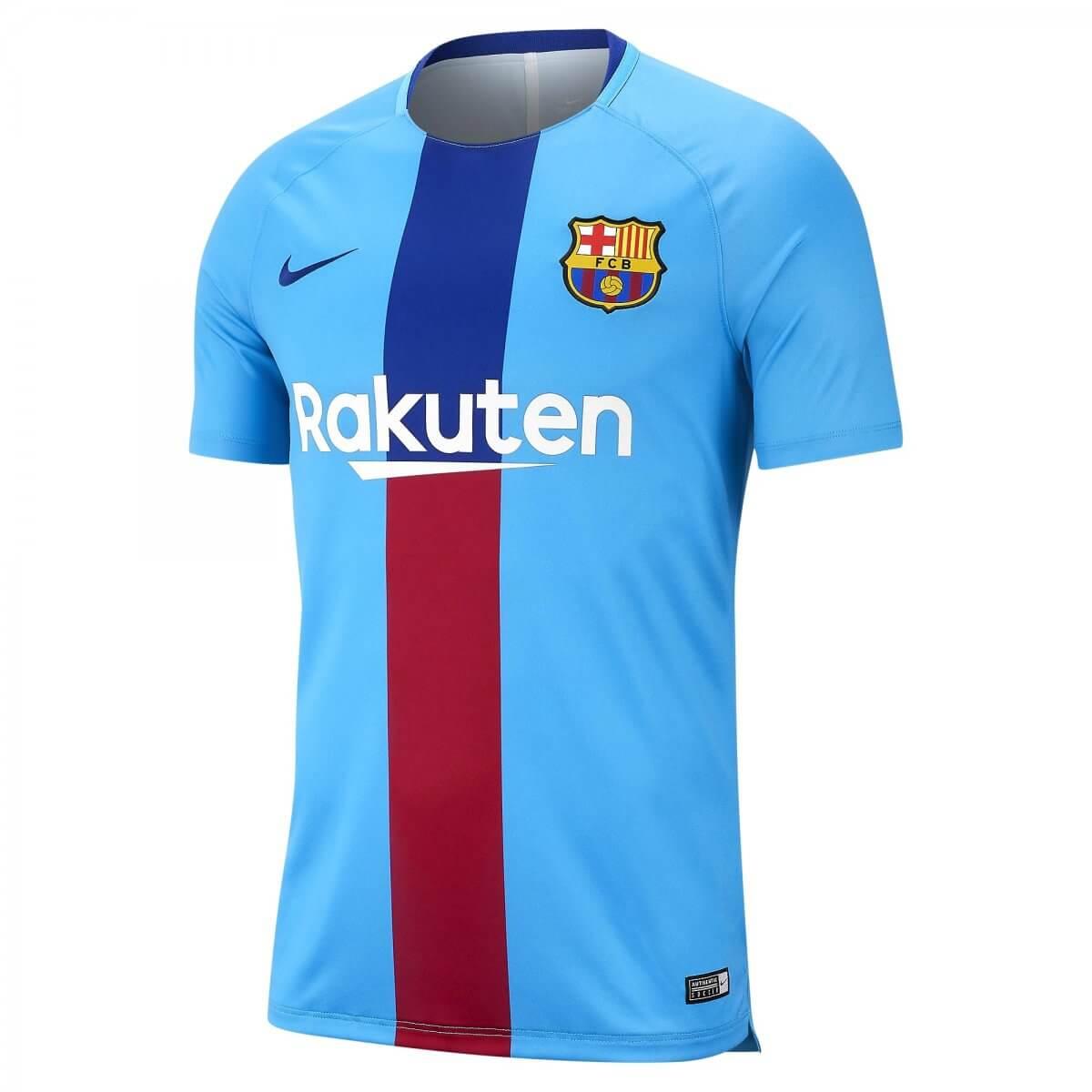 Camisa de Treino Masculina Nike FC Barcelona 894323-482 Azul Vermelho cc75c5a3ec97f