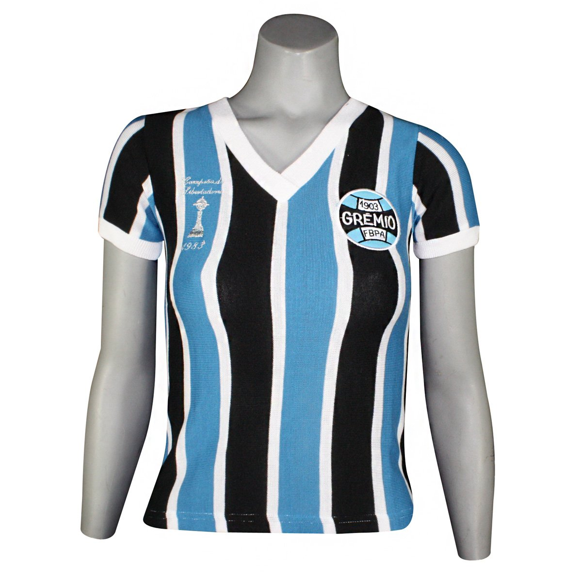 0931f630c620d Camisa Feminina Dilva Oldoni Grêmio Retro Renato Gaúcho GLIBB Tricolor