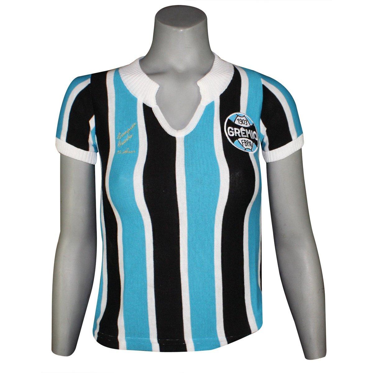 df13beca9 Camisa Feminina Dilva Oldoni Grêmio Retro Replica G35 Tricolor