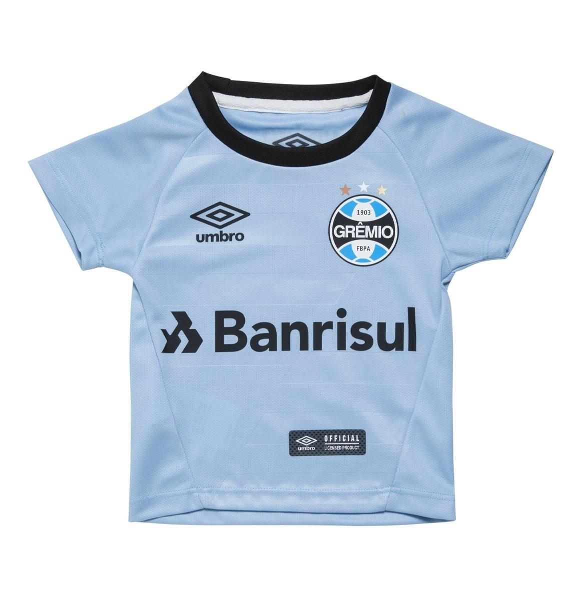 70eff2d5a0264 Camisa Infantil Umbro Grêmio Oficial II 2017 3G160099 313 Celeste Preto