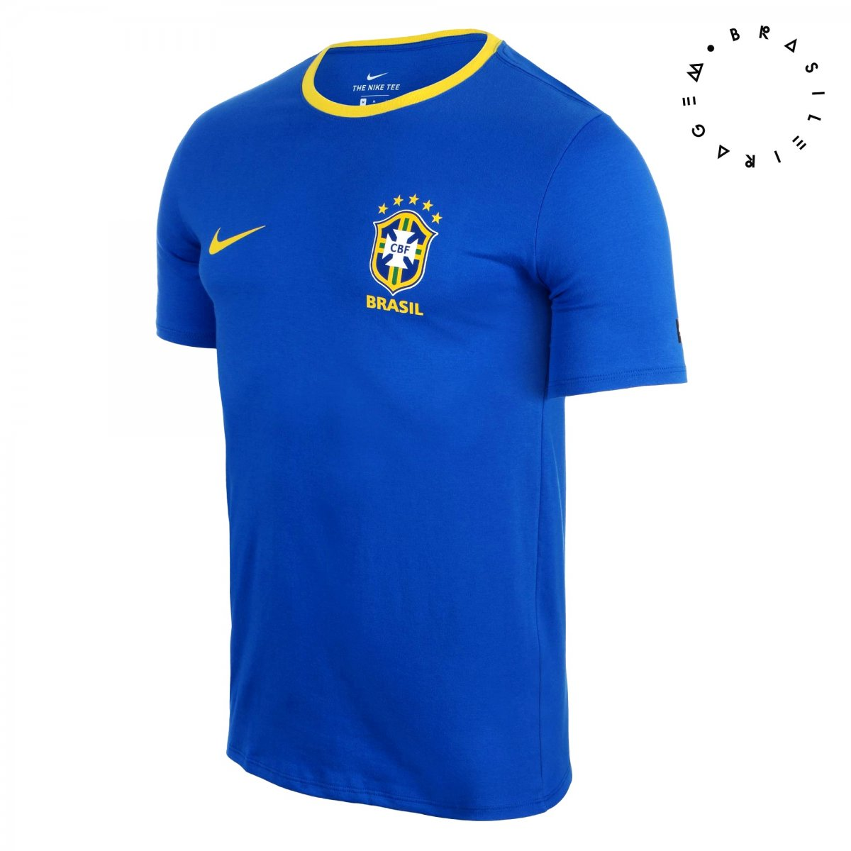 a176b011768dc Camisa Masculina Nike Brasil CBF Crest 2018 888320-403 - Azul ...