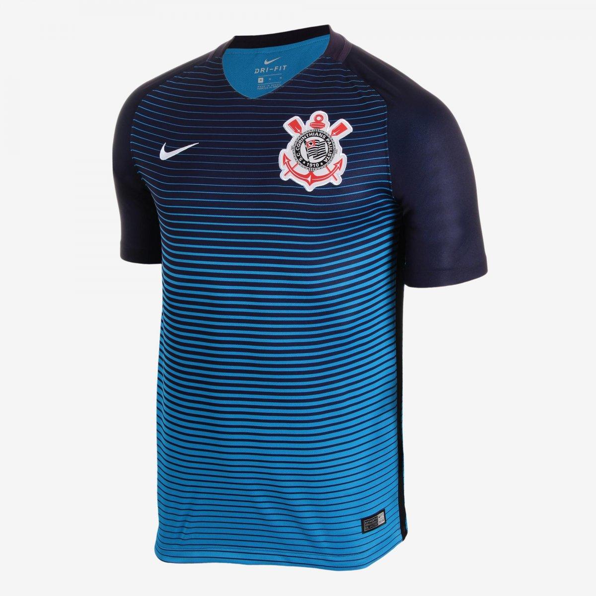 Camisa Masculina Nike S.C Corinthians III 2016 17 Torcedor 776977-560  Marinho 63b13b8177b63