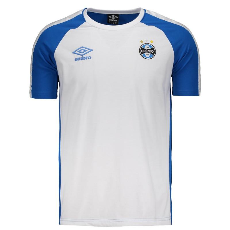 Camisa Masculina Umbro Grêmio Concentração 2017 3G180015-323 Azul Branco 4a54965485a9c