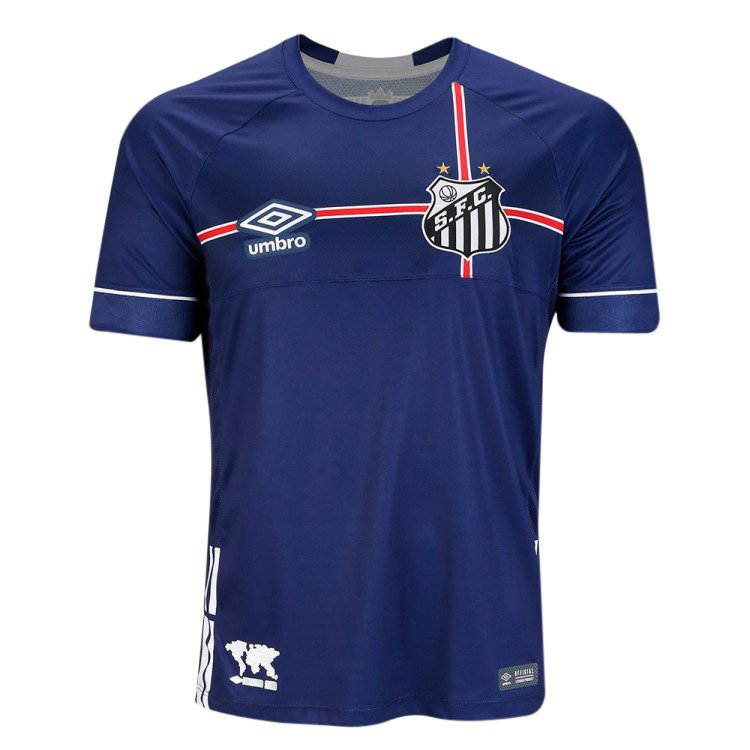 8686d19c17 Camisa Masculina Umbro Santos Of. The Kingdom 2018 (Fan) 3S160577 727  Marinho