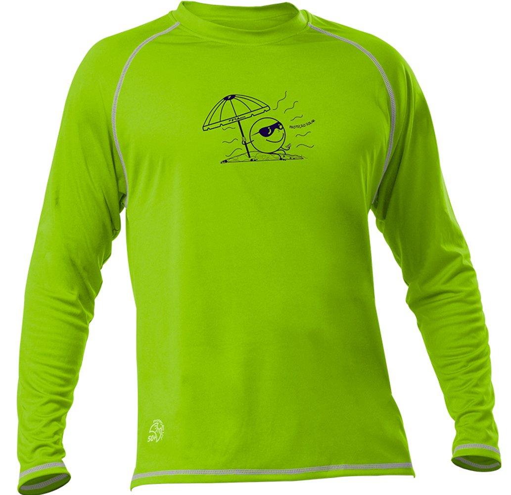 Camisa Poker Infantil Proteção Solar UV50 04914 Verde Cinza 8ed96f758fc47