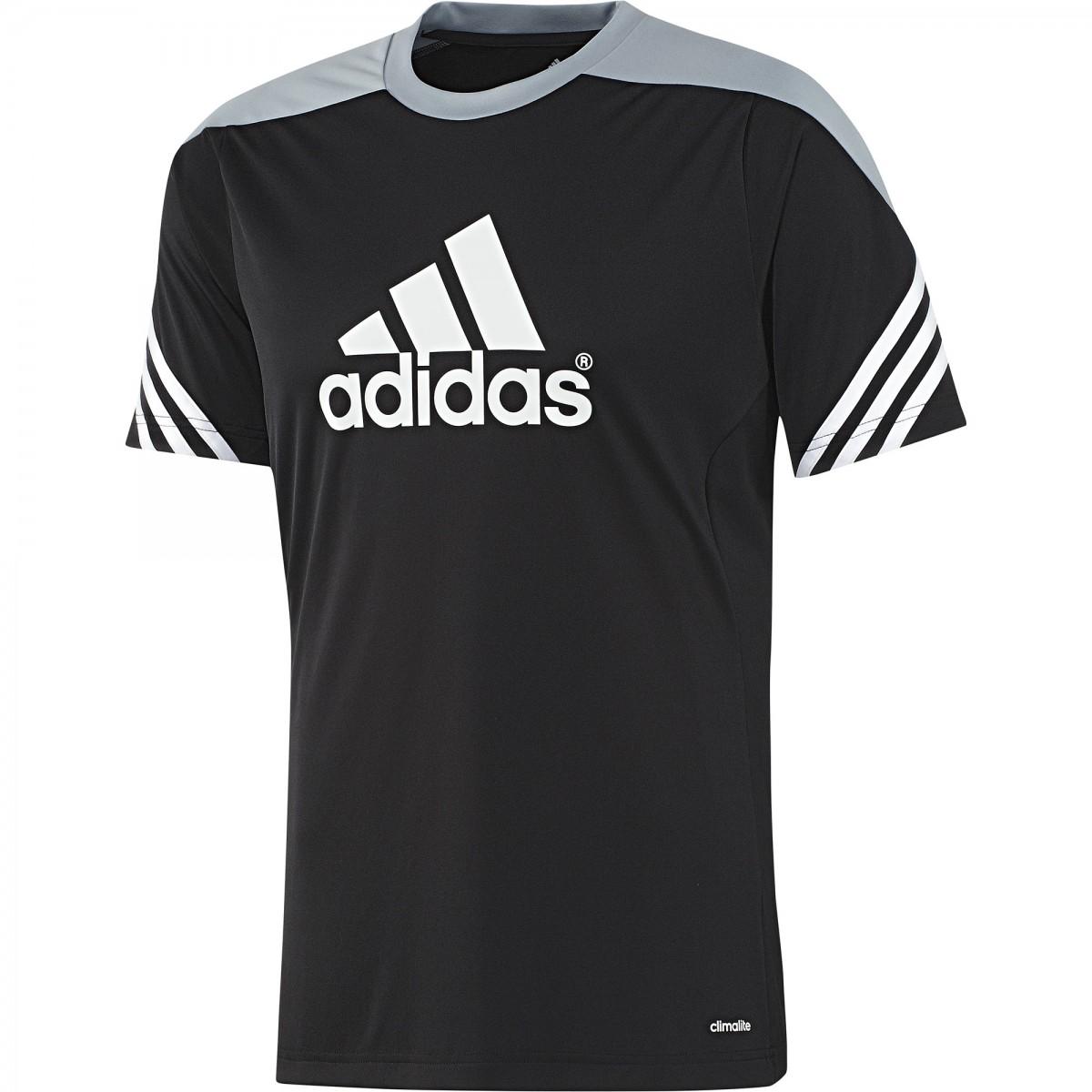 159647f0f3 Camiseta Adidas Treino Sere 14 F49700 - Preto - Calçados Online ...