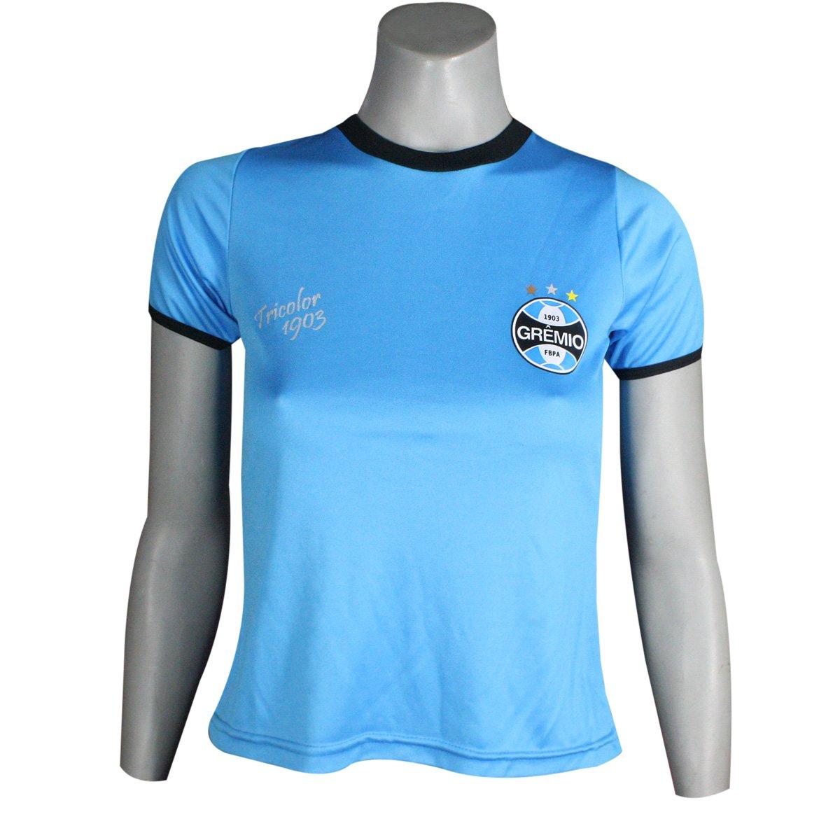 9fb65781d9e53 Camiseta Feminina Dilva Oldoni Grêmio G573 Celeste