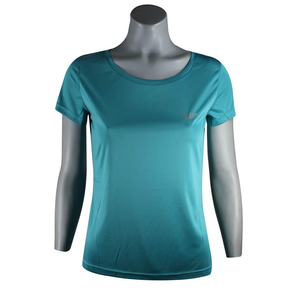 326f27cd1 Camiseta Feminina Speedo Interlock UV50 071337Q - Acqua - Calçados ...
