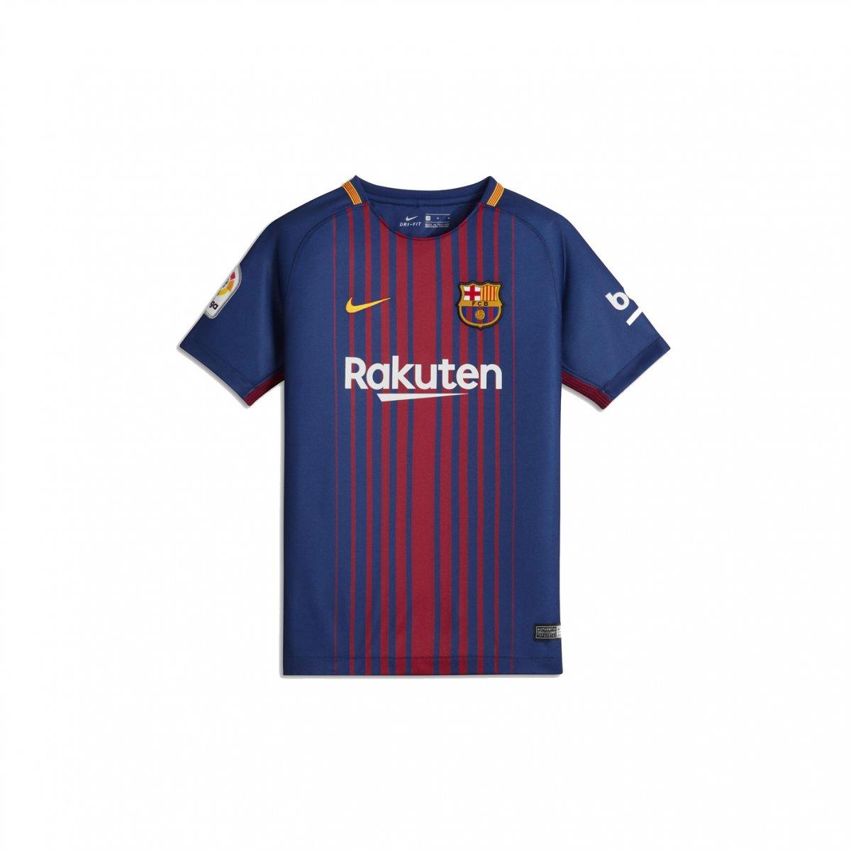 ec92a80aafdd9 Camiseta Infantil Nike Barcelona Dry Stadium Home 2017 18 (Com Logo) 847387-