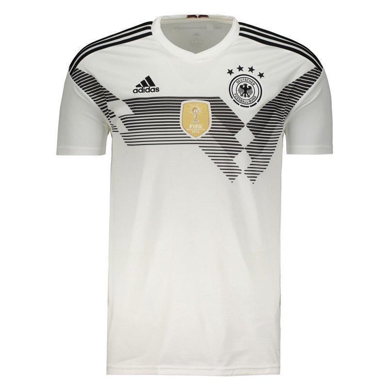 0789eeb29a Camiseta Masculina Adidas Alemanha 1 2018 BR7843 - Branco - Calçados ...