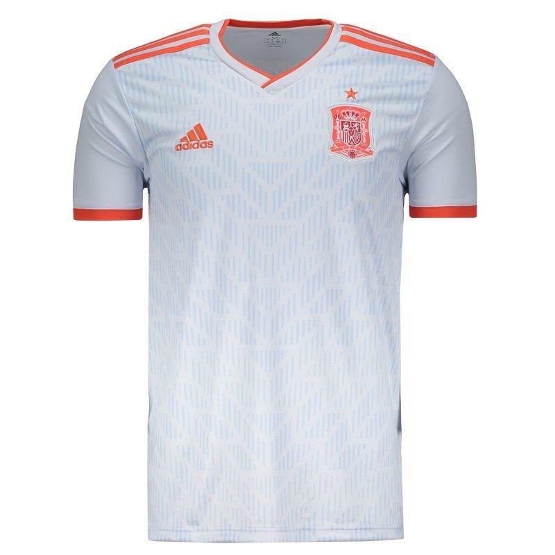 Camiseta Masculina Adidas Espanha 2 2018 BR2697 - Branco - Calçados ... c964c780df6f4