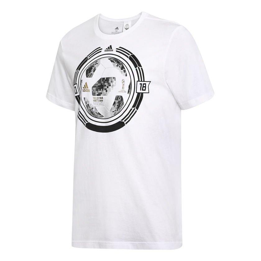 afa9b2bbe7 Camiseta Masculina Adidas Fifa Word Cup Ball CW2086 - Branco ...
