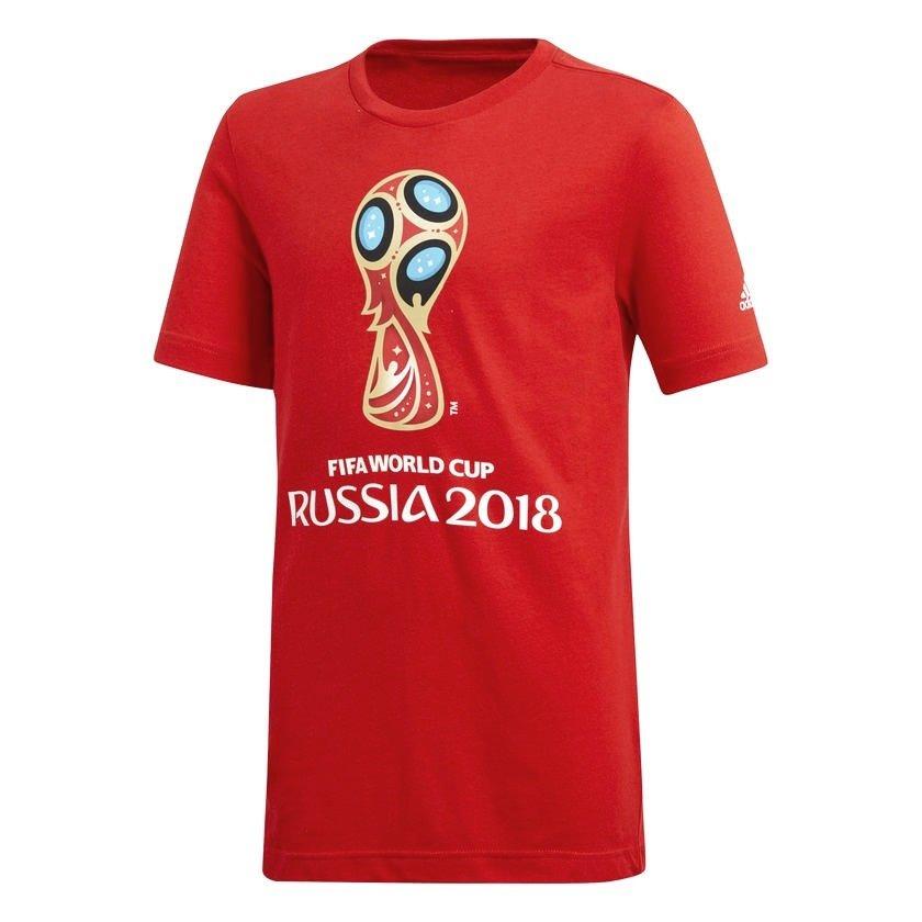 c316e87c207d0 Camiseta Infantil Adidas Fifa World Cup 2018 CV6333 - Vermelho ...