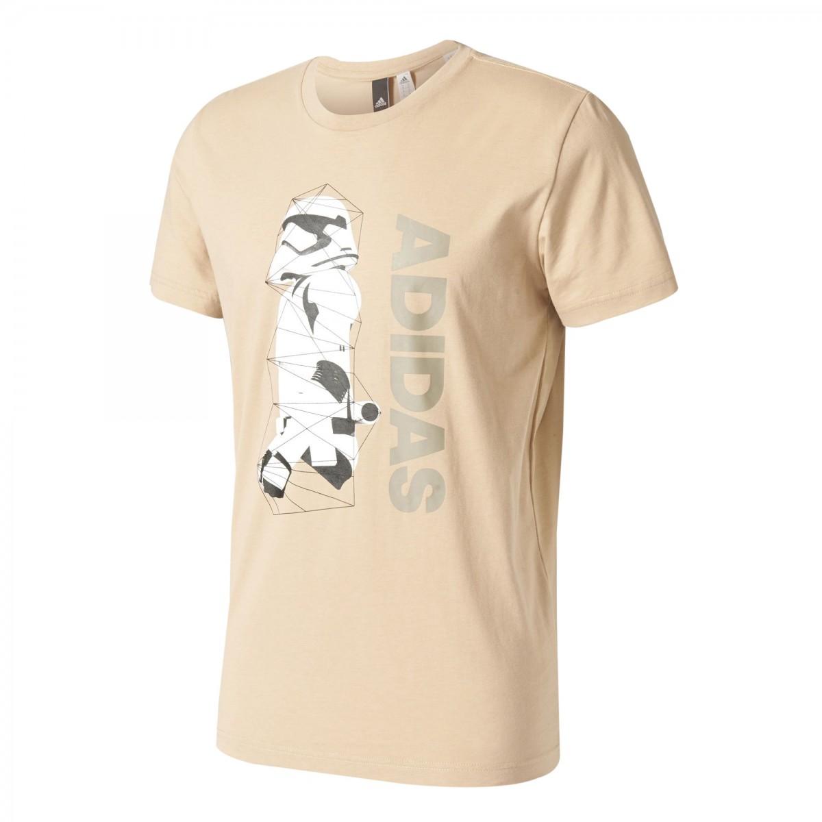 Camiseta Masculina Adidas Star Wars Stormtrooper BK2841 Bege 33592c4b76017