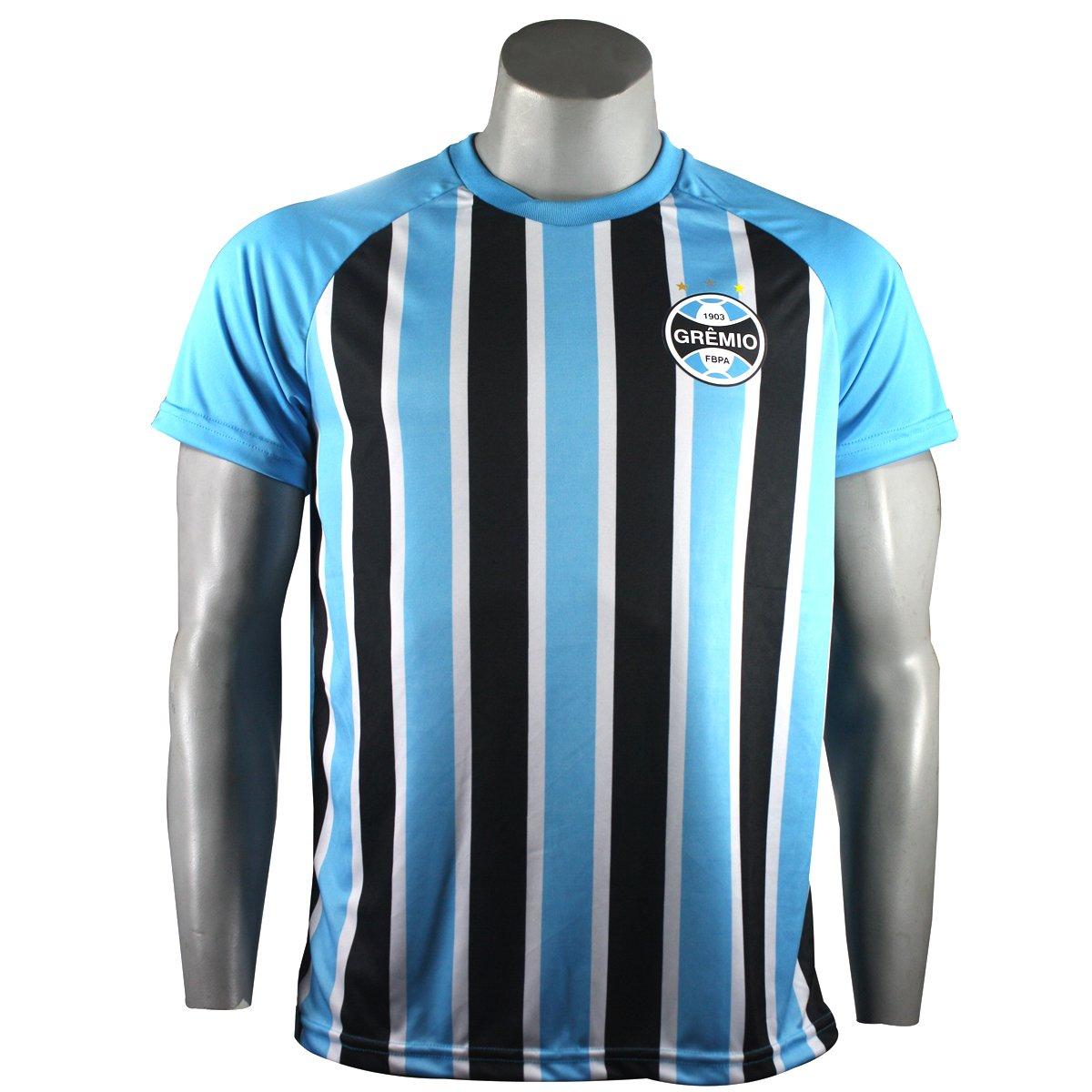 Camiseta Masculina Grêmio Stripes Poa NC18007 - Azul Tricolor ... bdb4c4bf36c86