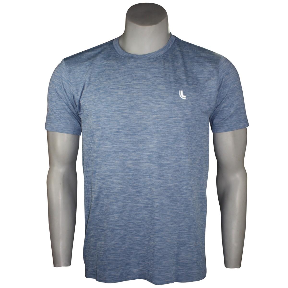 bae90887e Camiseta Masculina Lupo Run Mescla 70653-0770 - Azul - Calçados ...