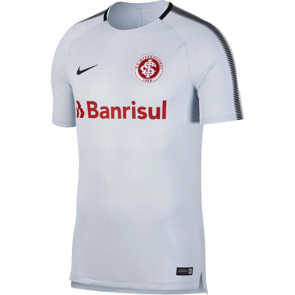 Camiseta Masculina Nike Breathe S.C. Internacional Squad 892639-044 Cinza  Vermelho 1664e60b6b933