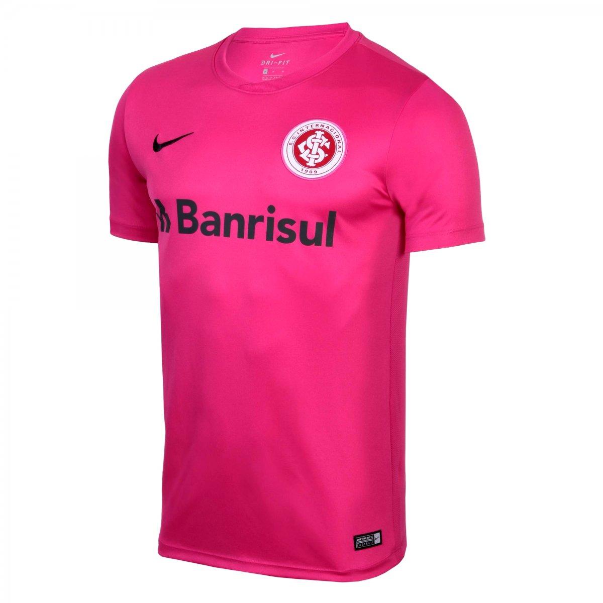 e462503c567a3 Camiseta Masculina Nike Internacional Outubro Rosa AA1081-616 Rosa