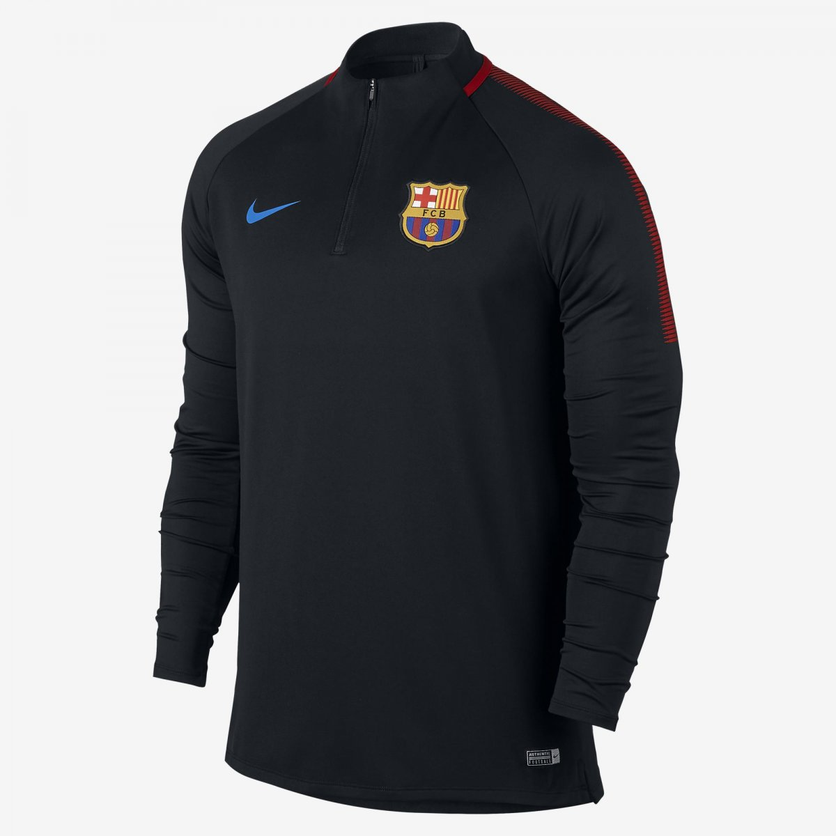 Camiseta Nike Barcelona Squad Dril Top Masculina 854191-011 Preto  (Poliéster) b55be135b102e