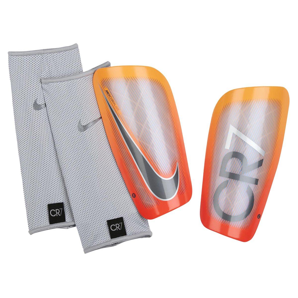 Caneleira Nike CR7 Mercurial Lite SP2109 855 Prata Laranja 8ae517a5e2805