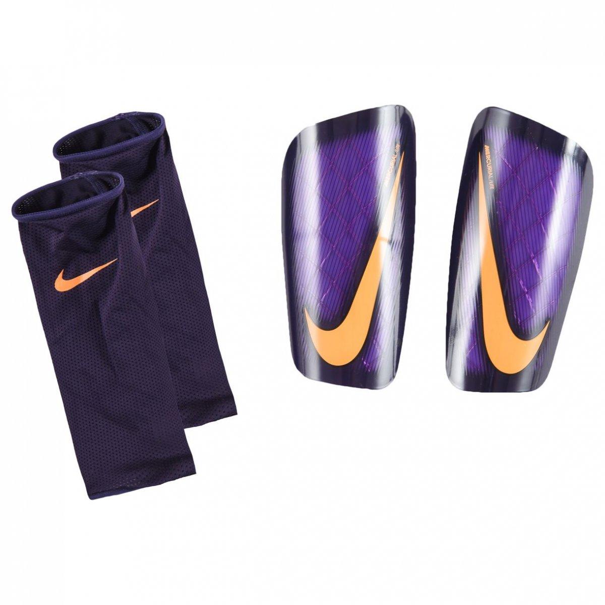 Caneleira Nike Mercurial Lite SP2086-560 Roxo Laranja dc03b11e9d3d6