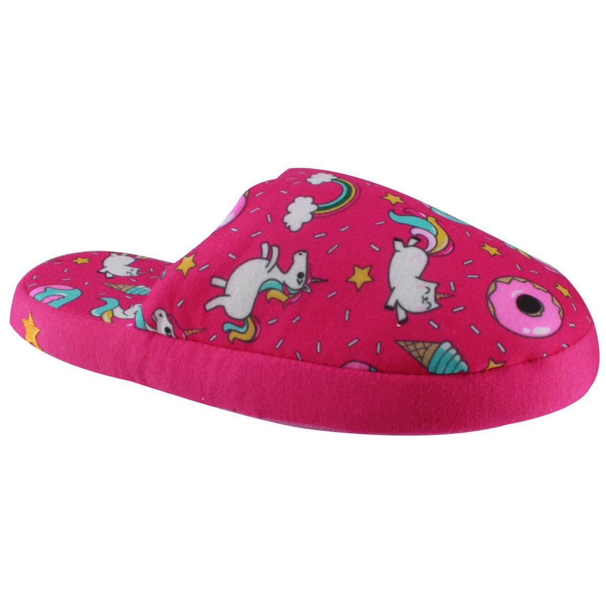 f57c37a6d Chinelo de Inverno Ricsen Unicornio Donuts 13646 - Rosa - Calçados ...